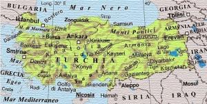 cartina Turchia