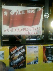 un manifesto d'epoca comparso oggi in un bar del centro di Bologna