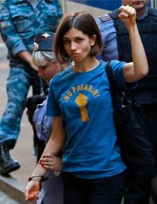 Nadja al processo nell'agosto 2012