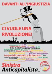 Davanti all'ingiustizia ci vuole una rivoluzione!