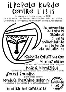 kobane-locandina per iniziativa 20 novembre 2014 definitiva