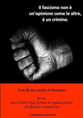 Firma contro fascismo