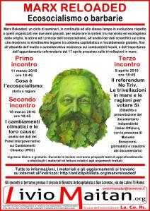 Locandina - Marx reloaded - Ecosocialismo o barbarie - per web